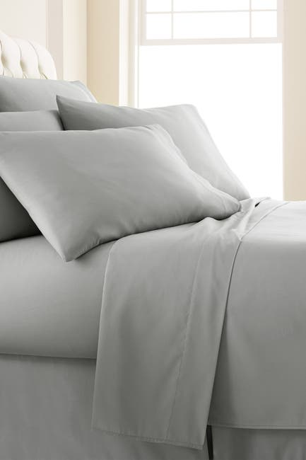 Image of SOUTHSHORE FINE LINENS Queen Sized Vilano Springs Extra Deep Pocket Sheet Set - Steel Gray