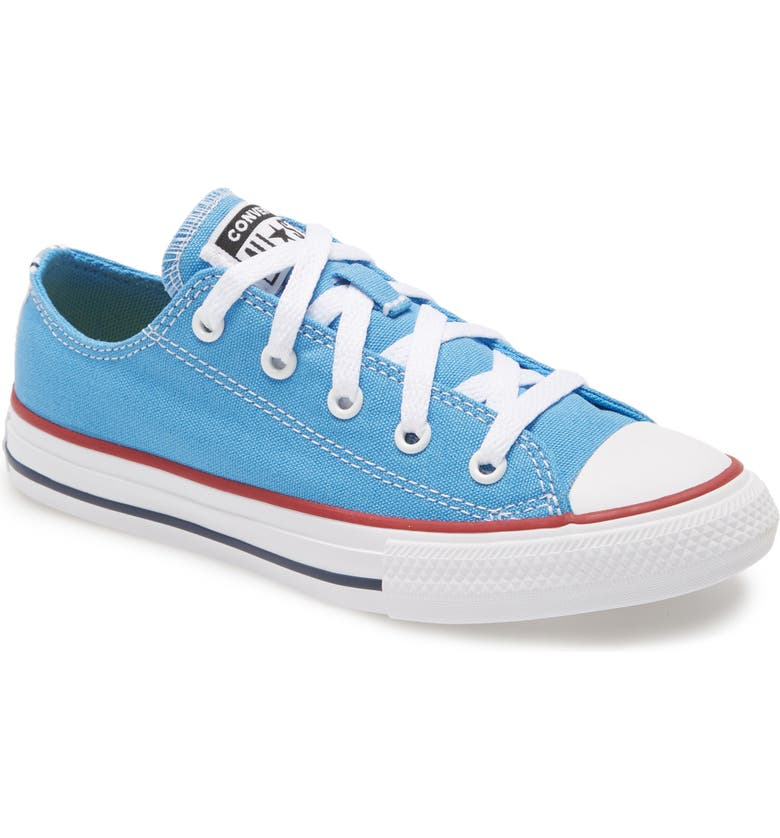 CONVERSE Chuck Taylor<sup>®</sup> All Star<sup>®</sup> Low Top Sneaker, Main, color, COAST/ GARNET/ WHITE