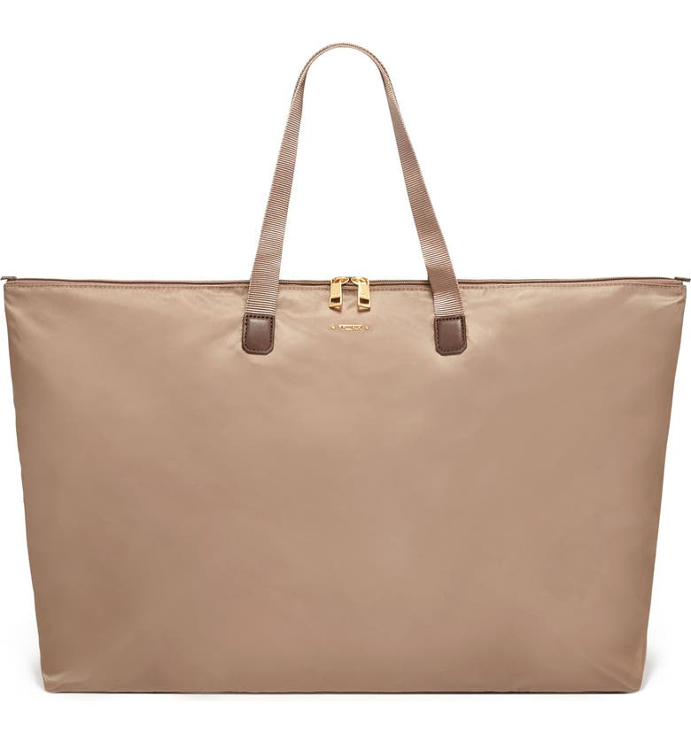 TUMI Voyageur Just In Case<sup>®</sup> Packable Nylon Tote, Main, color, FOSSIL