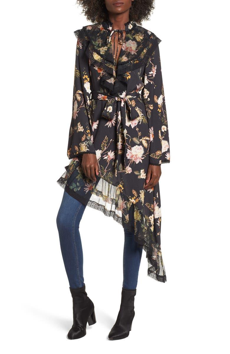 AFRM Ray Asymmetrical Midi Dress, Main, color, 001