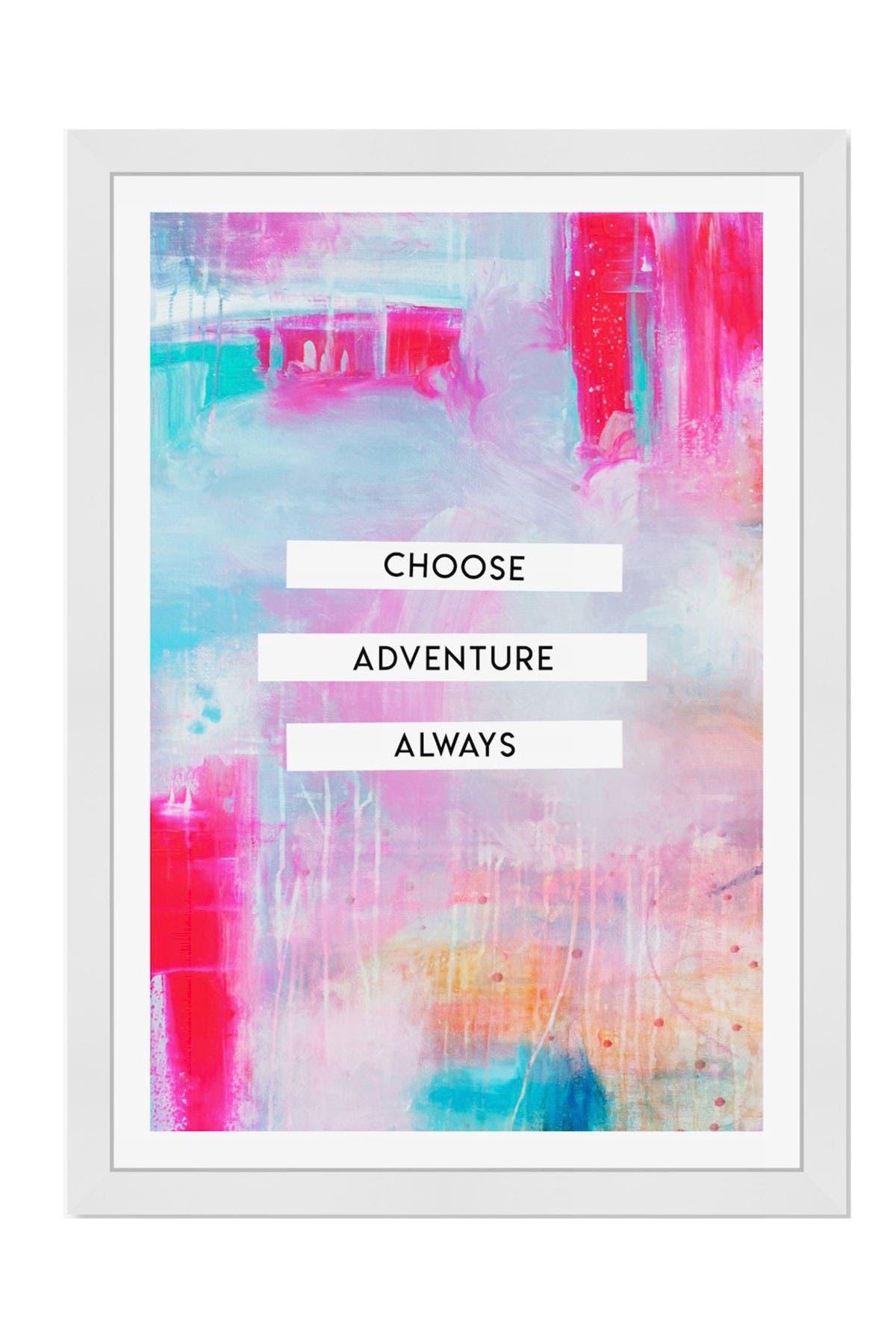 Image of Wynwood Studio Choose Adventure Pink Framed Wall Art