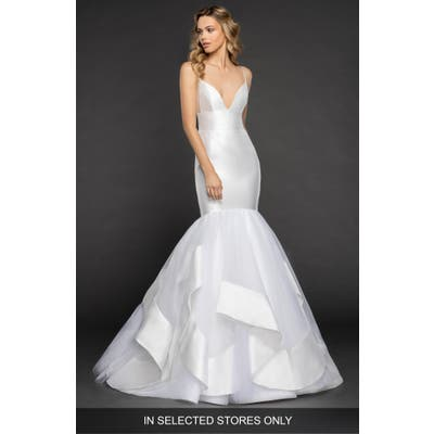 Hayley Paige Nevada Mikado & Tulle Mermaid Gown