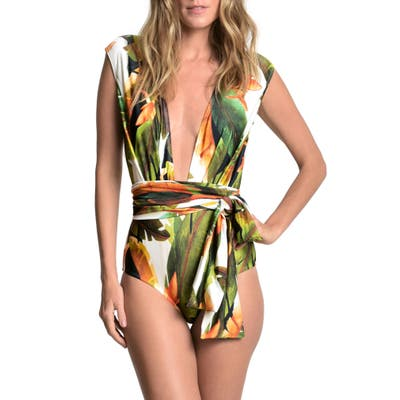 Lenny Niemeyer New Look One-Piece Swimsuit, Green