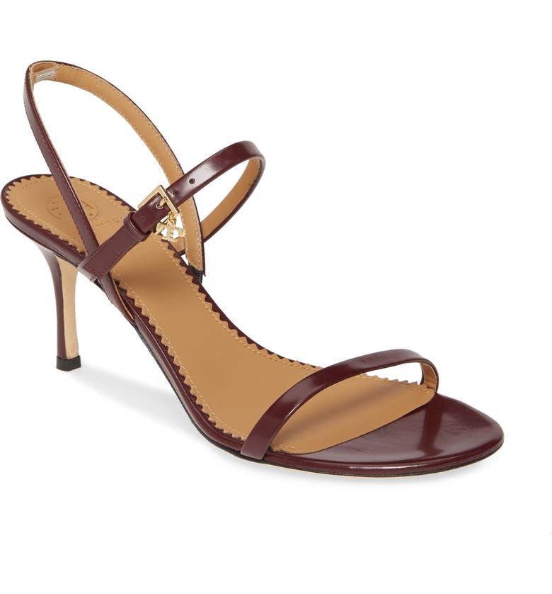 TORY BURCH Penelope Slingback Sandal, Main, color, MALBEC