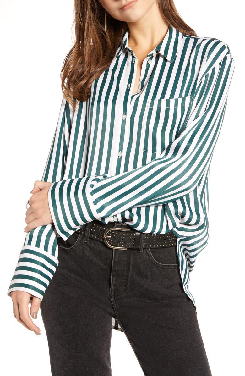 TREASURE & BOND Stripe Boyfriend Shirt, Main, color, 300