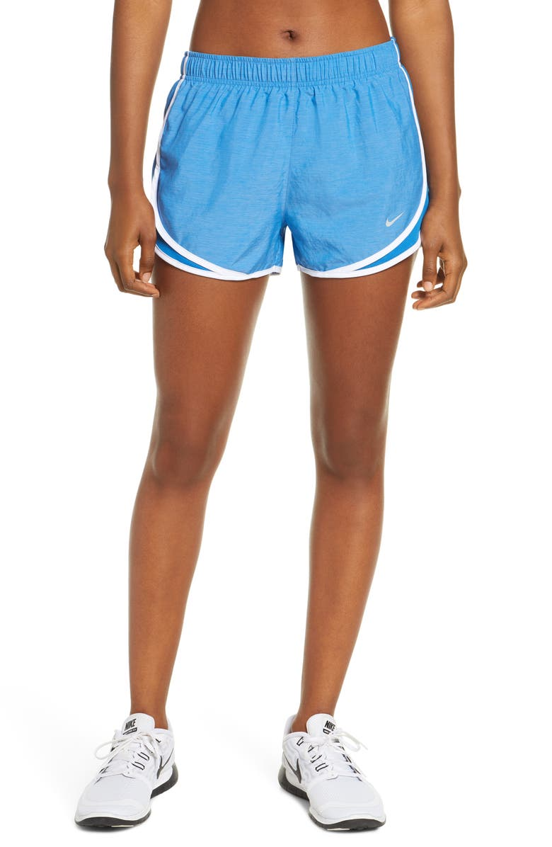 NIKE Dry Tempo Running Shorts, Main, color, BATTLE BLUE/ WHITE/ GREY