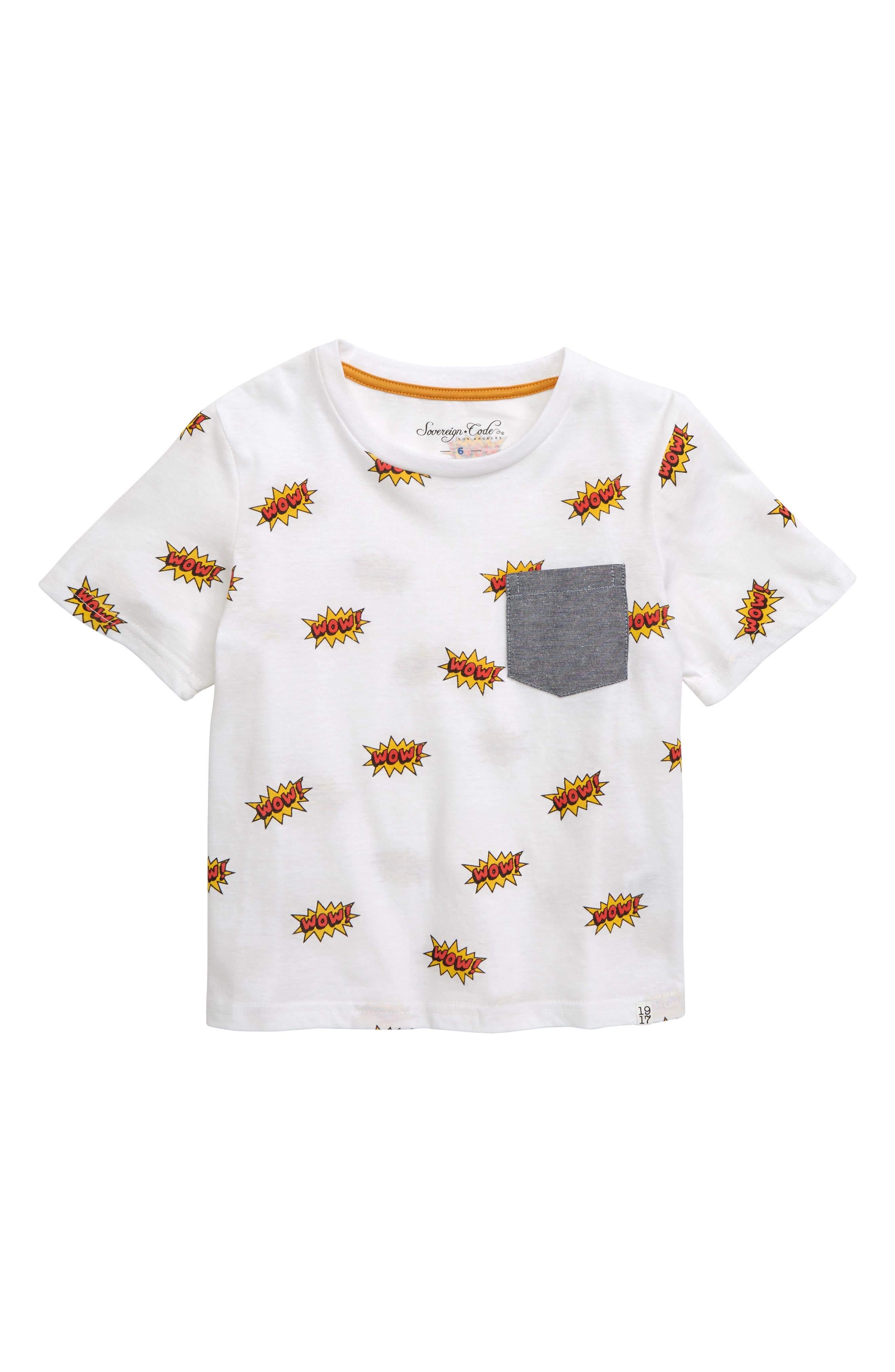Wow! Graphic T-Shirt, Main, color, WHITE