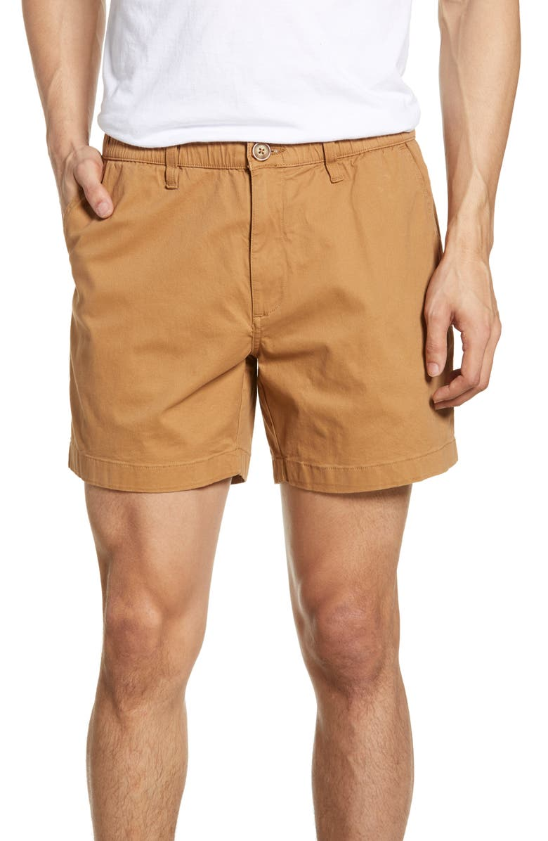 CHUBBIES The Staples 5.5 Shorts, Main, color, DARK KHAKI