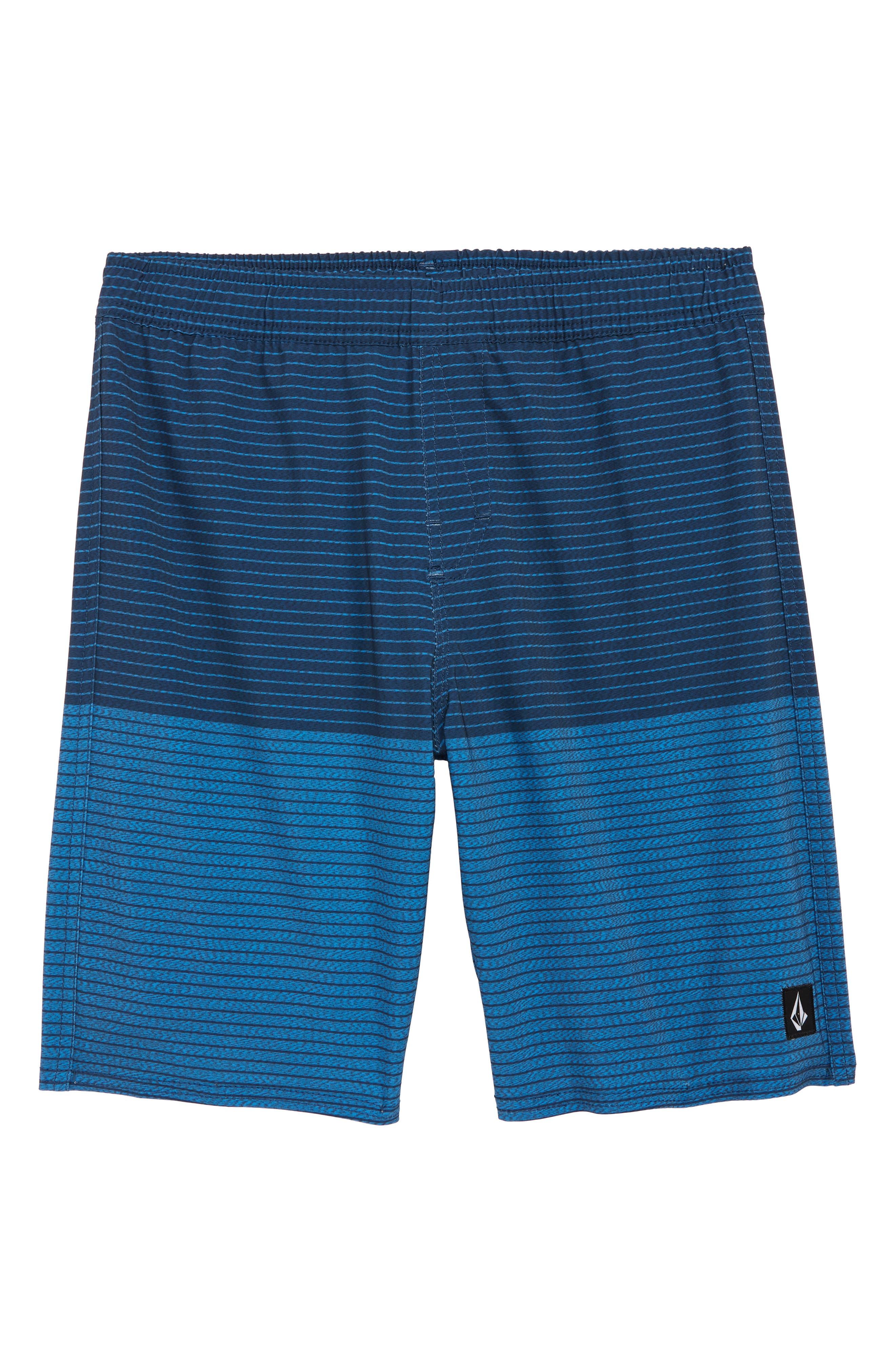b1cac3a364 Boy's Volcom Lido Heather Volley Swim Trunks, Size S (8) - Blue