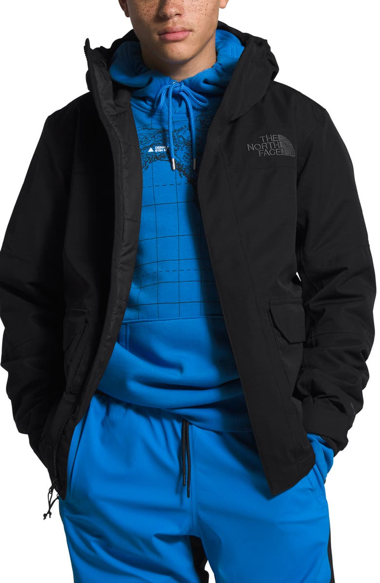 THE NORTH FACE Cypress Heatseeker<sup>™</sup> Eco Water Repellent Hooded Jacket, Main, color, TNF BLACK