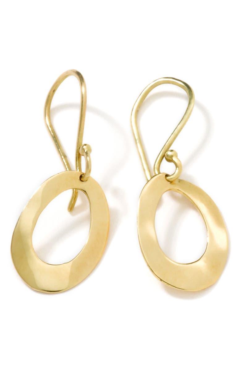 IPPOLITA Classico Mini Wavy Oval Hoop Earrings, Main, color, GOLD