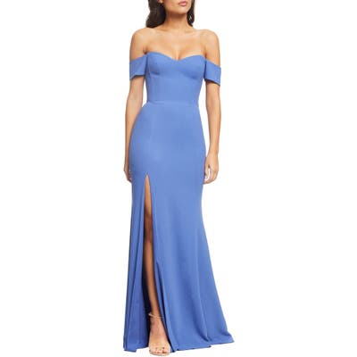 Dress The Population Logan Off The Shoulder Evening Dress