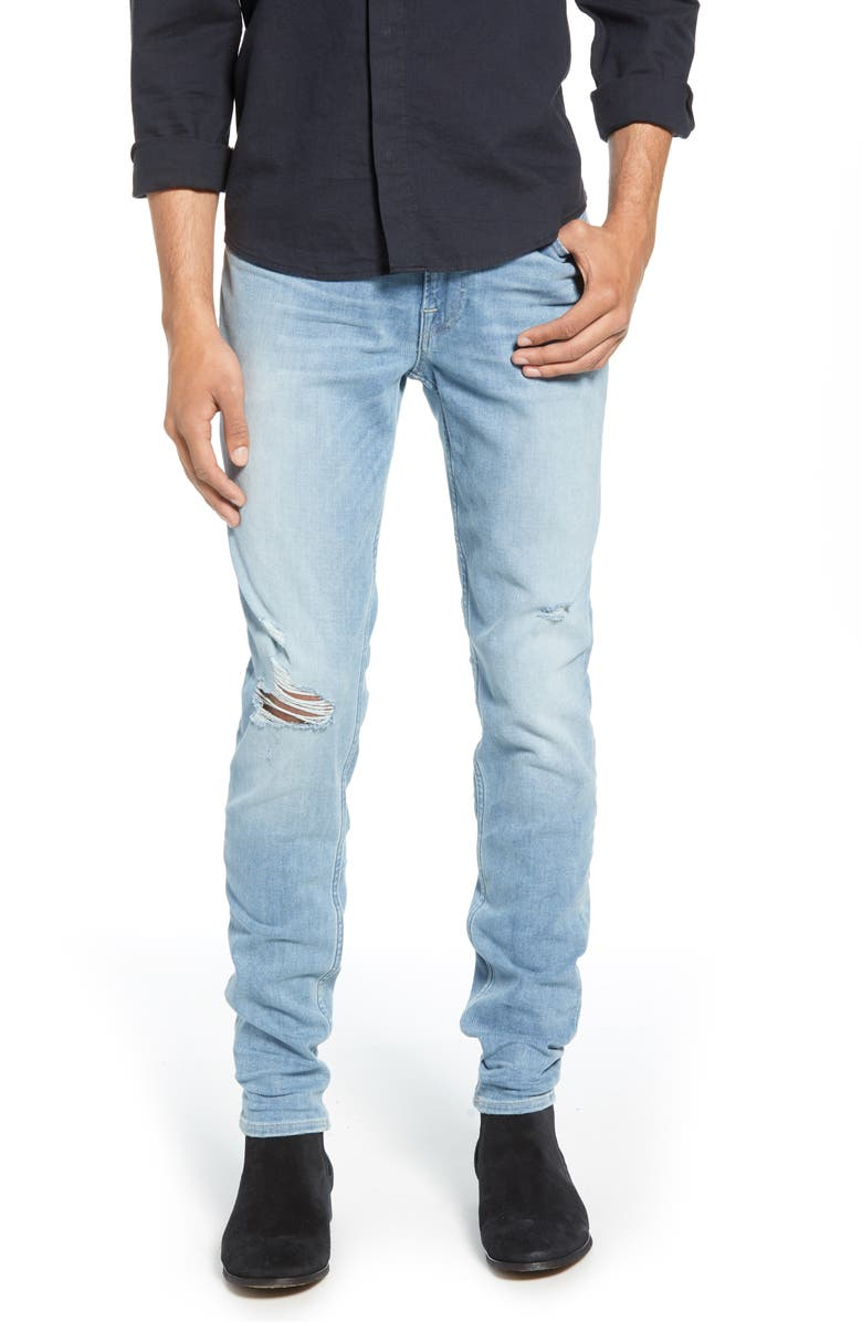 HUDSON JEANS Zack Skinny Fit Jeans, Main, color, DOWNS