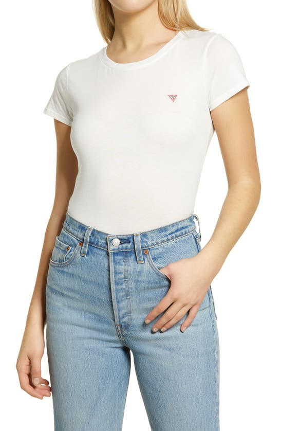 Guess Logo Baby T-shirt In True White