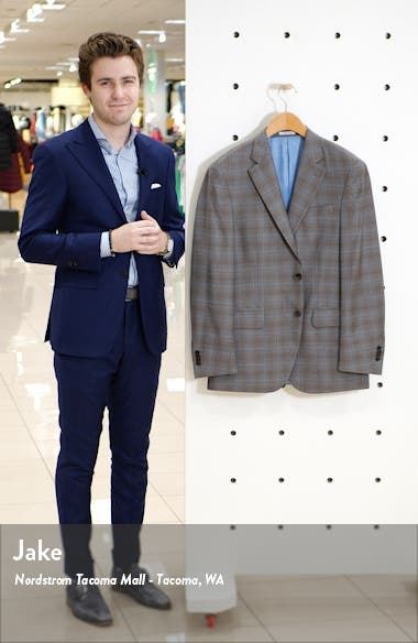 Flynn Classic Fit Plaid Wool Sport Coat, sales video thumbnail