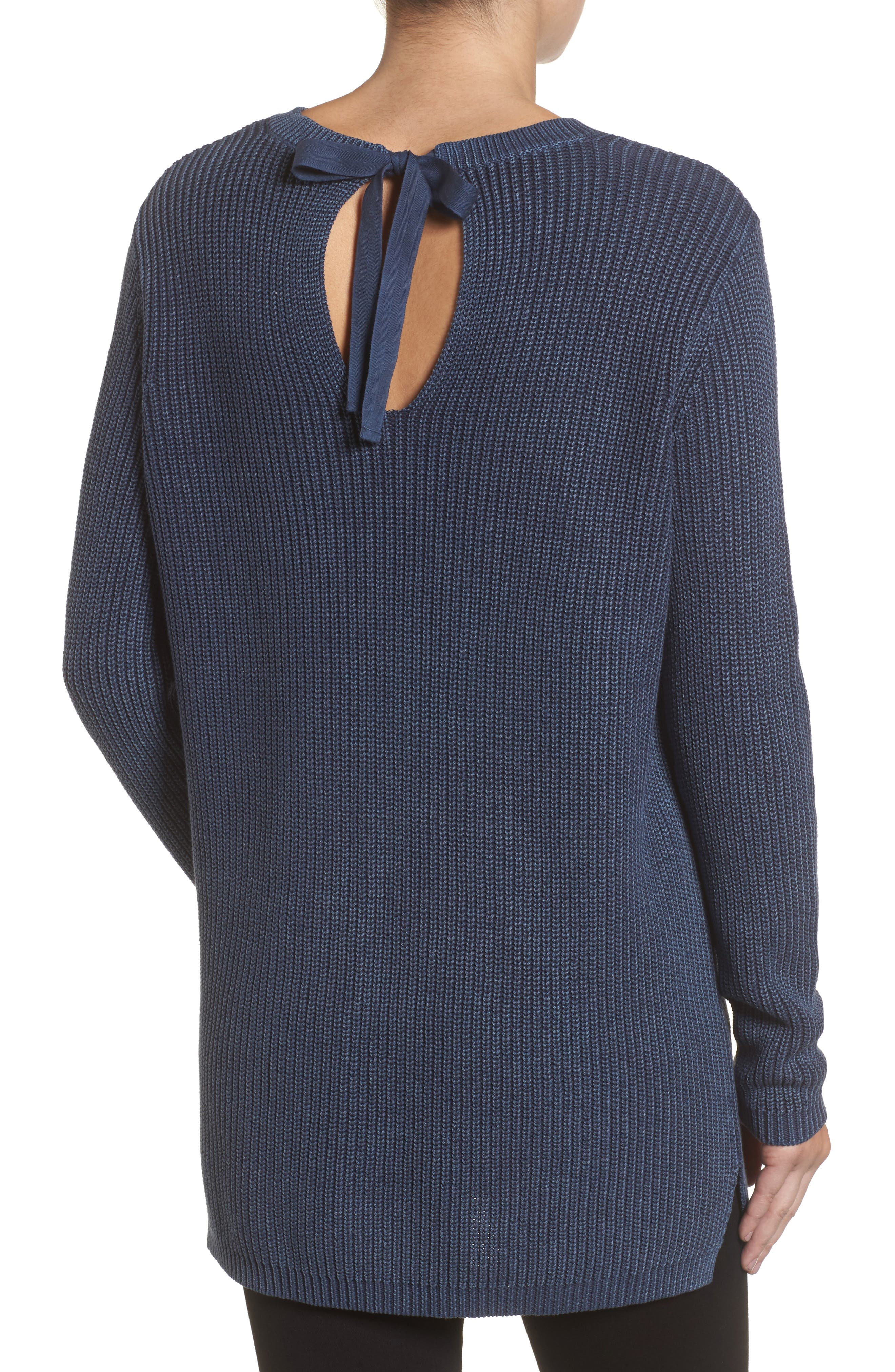 ,                             Tie Back Tunic Sweater,                             Alternate thumbnail 44, color,                             410
