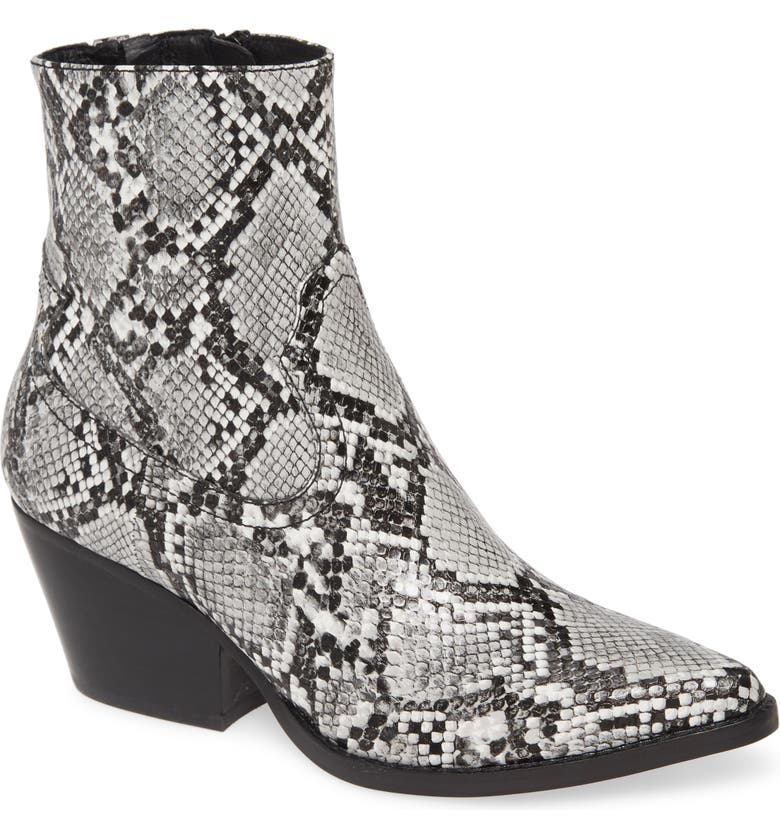 JEFFREY CAMPBELL Kelam Bootie, Main, color, GREY SNAKE
