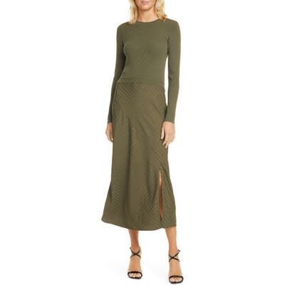 Ted Baker London Joowani Long Sleeve Midi Dress, (fits like 4-6 US) - Beige