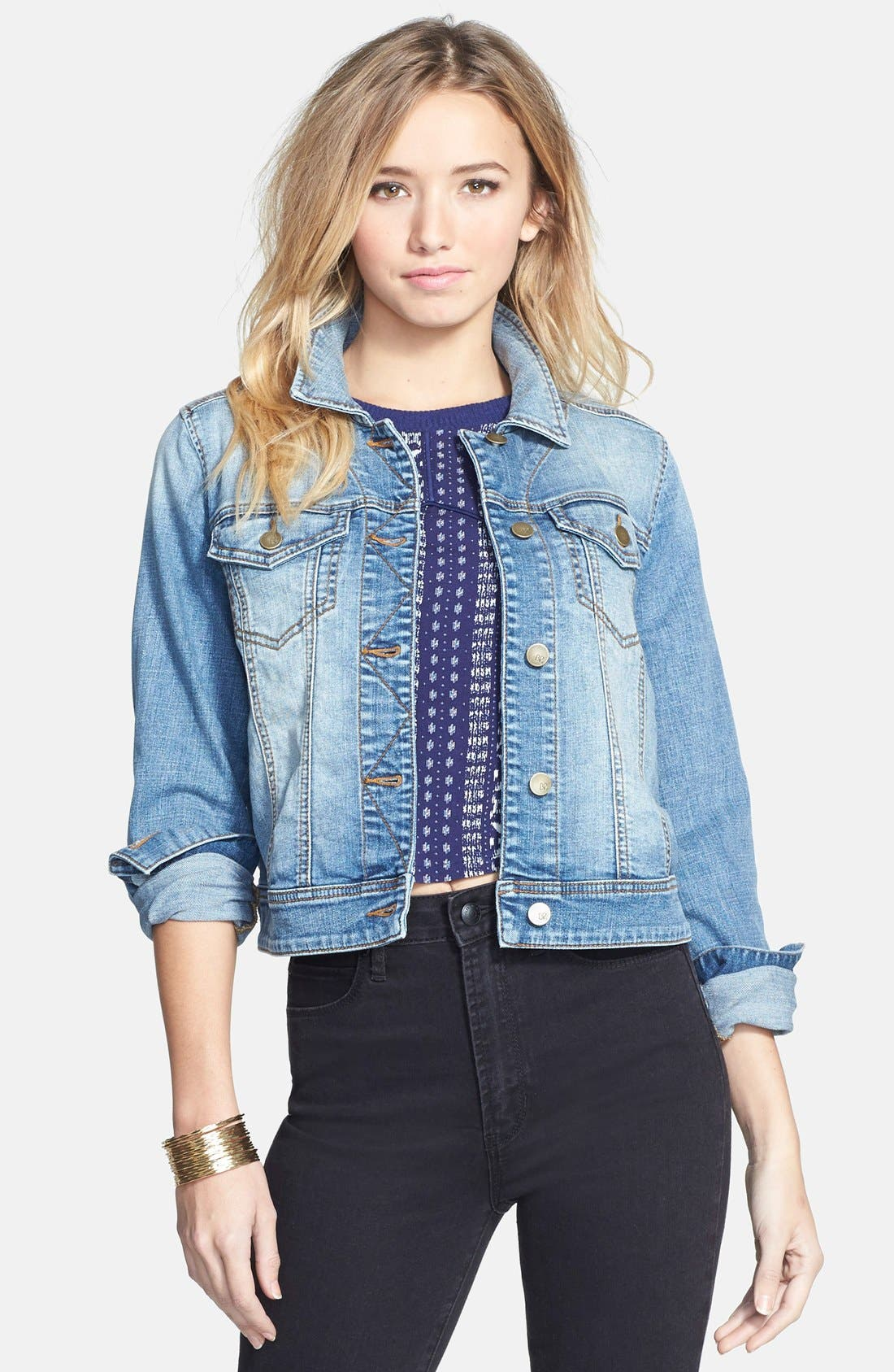 ,                             Denim Jacket,                             Main thumbnail 1, color,                             401