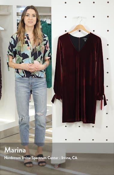 Velvet Tie Sleeve Dress, sales video thumbnail