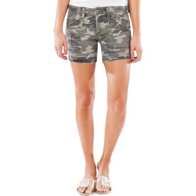 Kut From The Kloth Alice Release Hem Camo Shorts, Green