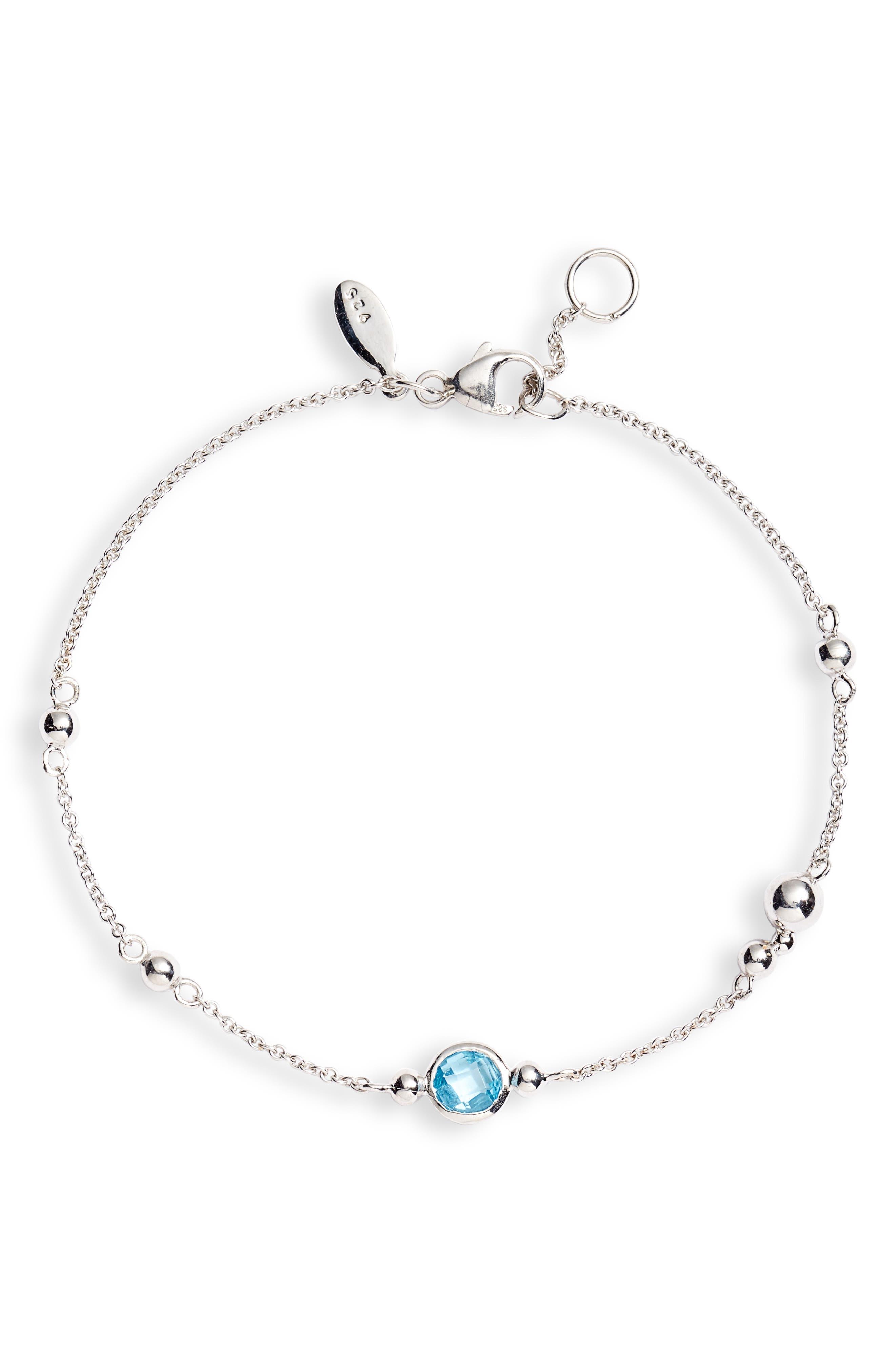 Dew Drop Bubbling Brook Blue Topaz Bracelet