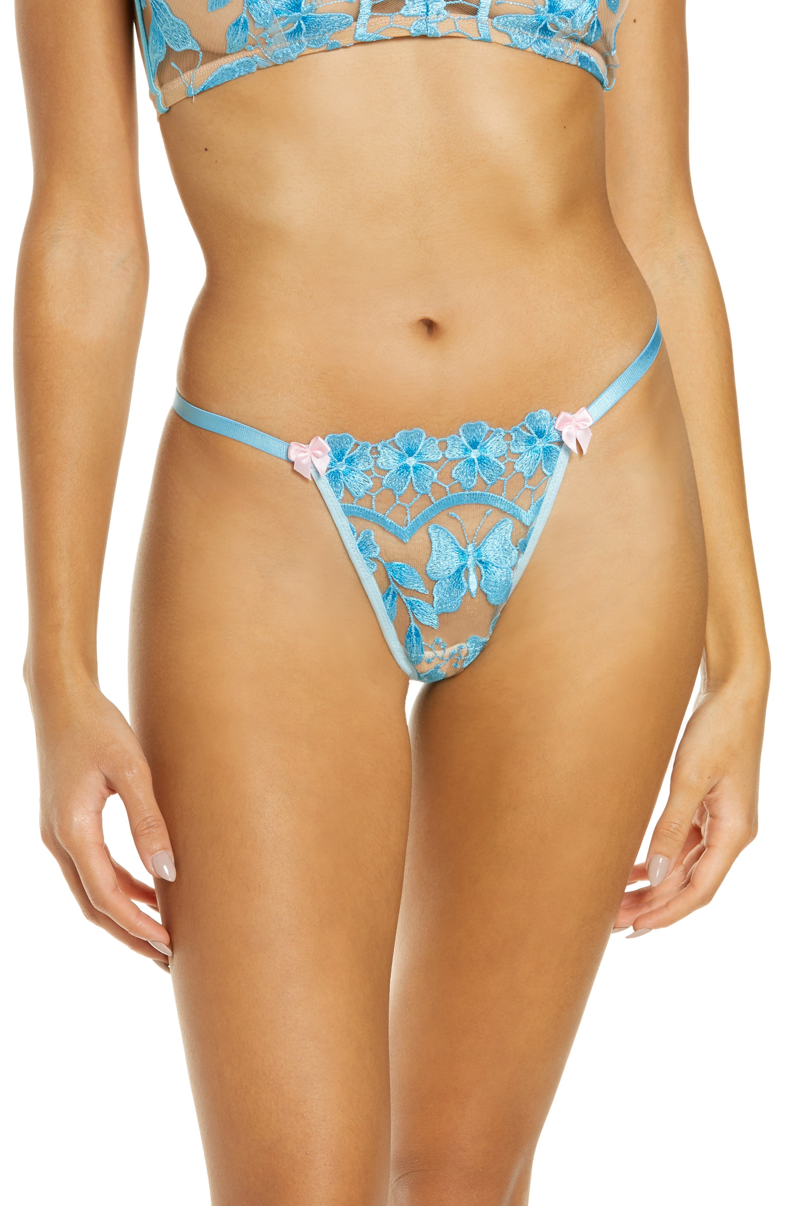 Embroidered G-String Thong