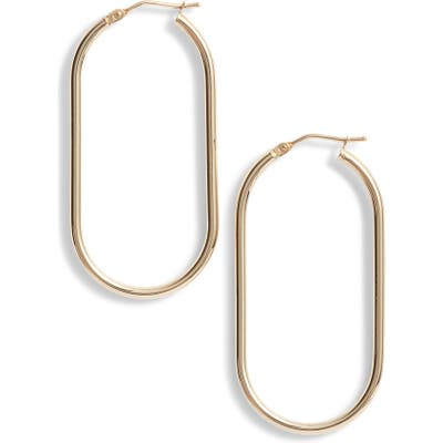 Bony Levy 14K Gold Oblong Hoop Earrings (Nordstrom Exclusive)