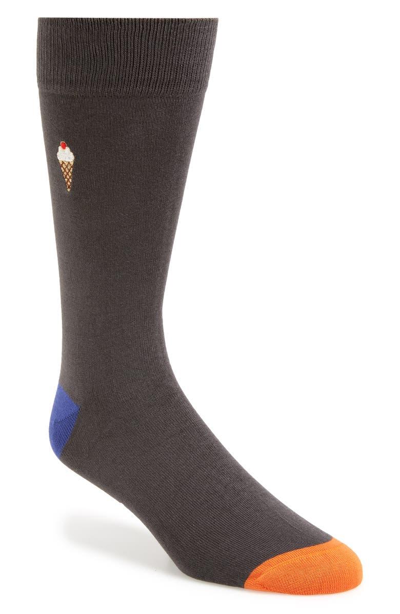 PAUL SMITH Foodies Socks, Main, color, GREY