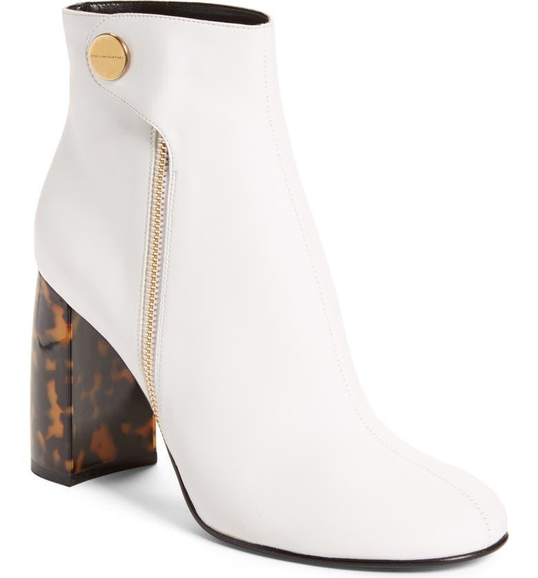 STELLA MCCARTNEY Block Heel Bootie, Main, color, 100