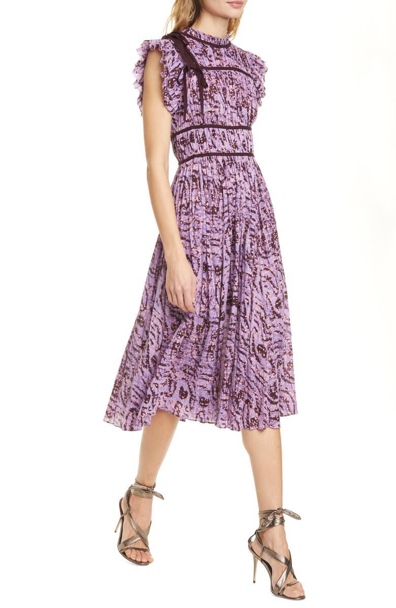 ULLA JOHNSON Amari Cotton Midi Dress, Main, color, 500