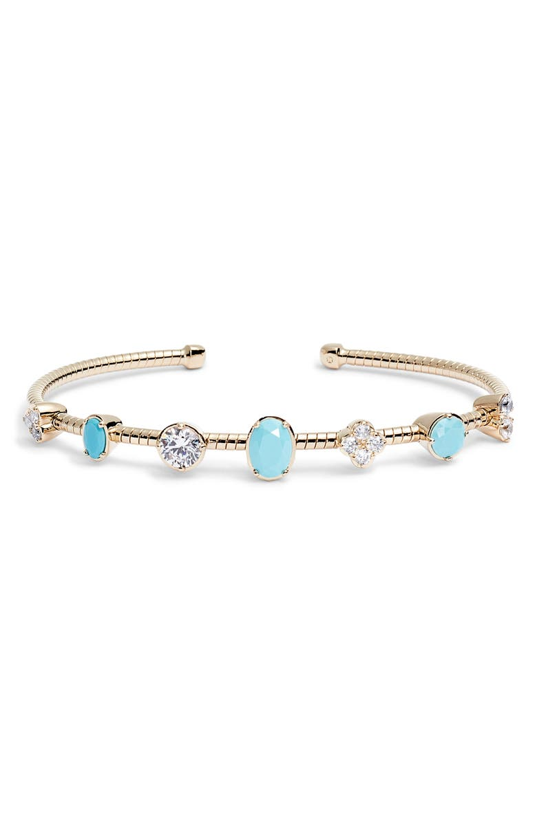 NADRI Gobi Flexi Cuff Bracelet, Main, color, GOLD