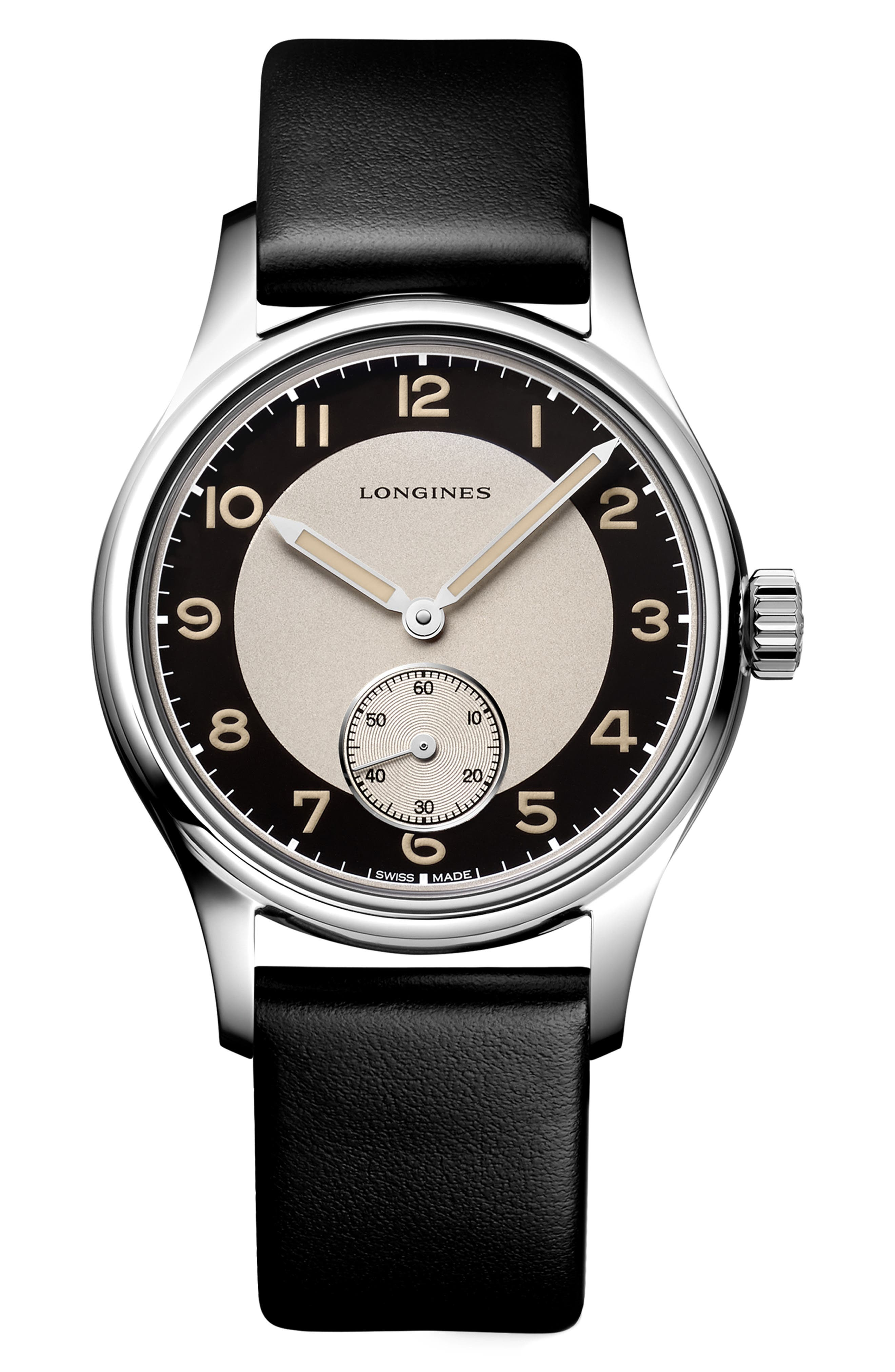 Heritage Classic Automatic Leather Strap Watch