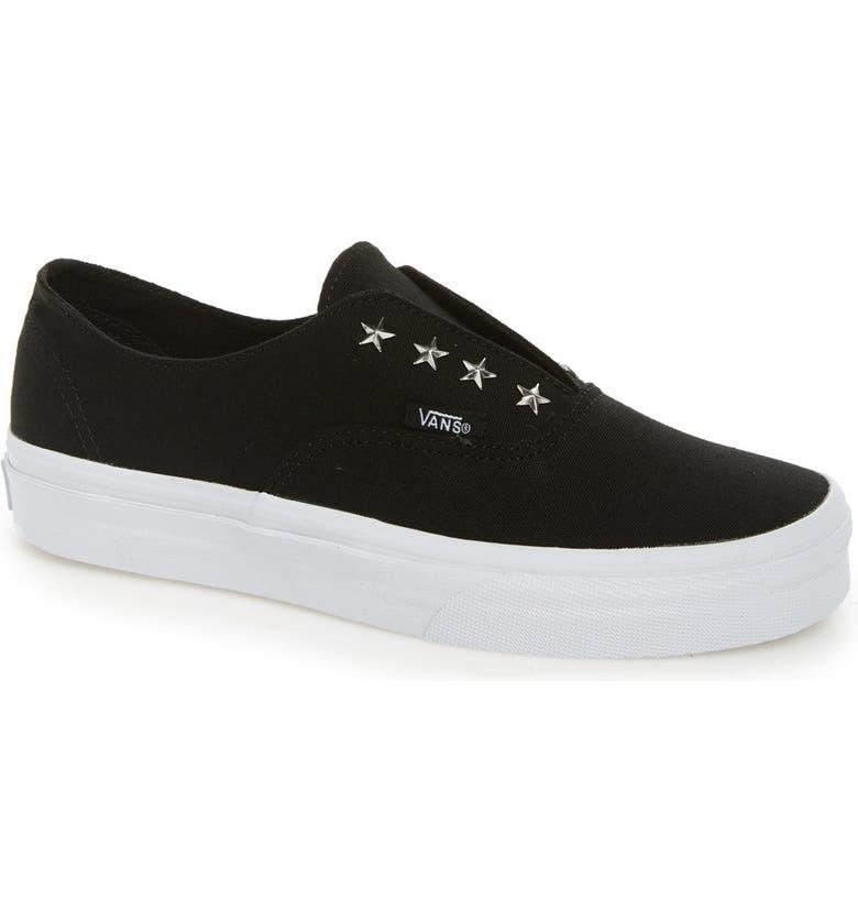 VANS 'Authentic' Studded Slip-On Sneaker, Main, color, 001