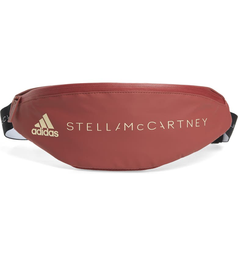 ADIDAS BY STELLA MCCARTNEY Badge of Sports Belt Bag, Main, color, CLAY RED-SMC