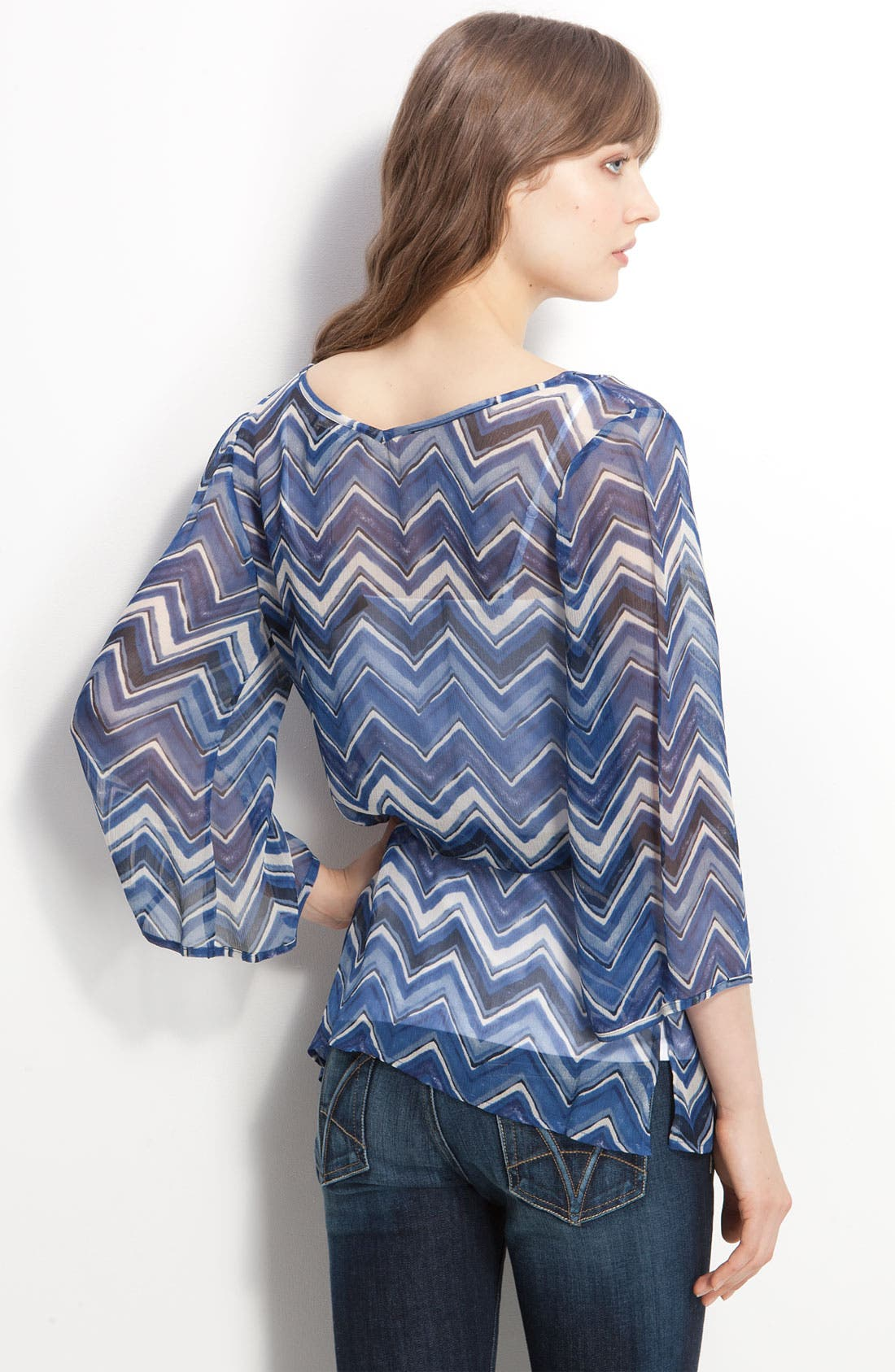 ,                             'Marley Chevron' Silk Tunic,                             Alternate thumbnail 2, color,                             400