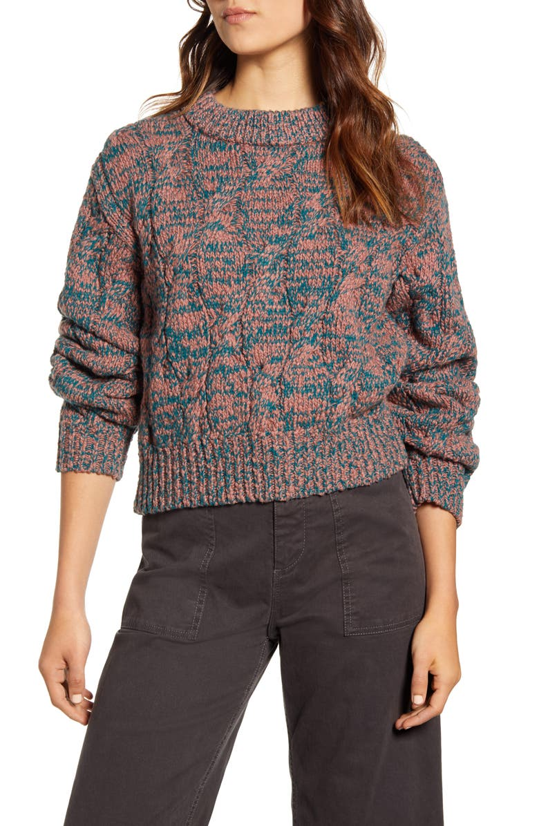 LOU & GREY Cable Knit Sweater, Main, color, MULTI