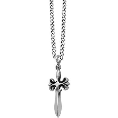 King Baby Sterling Silver Dagger Pendant Necklace