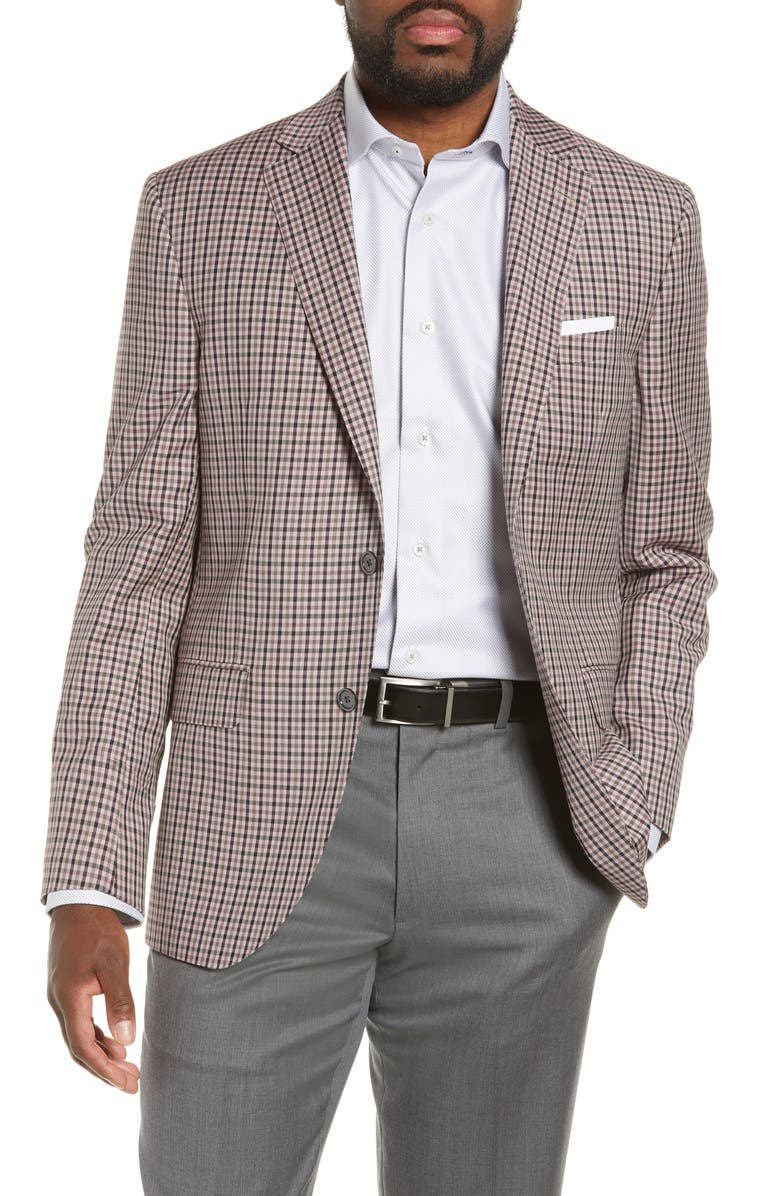 DAVID DONAHUE Connor Classic Fit Check Wool Sport Coat, Main, color, 610