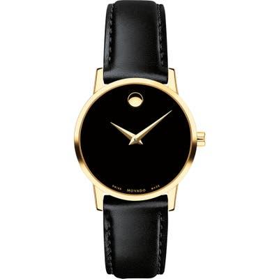 Movado Leather Strap Watch, 2m