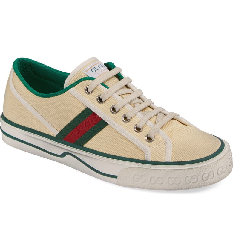 GUCCI Tennis 1977 Sneaker, Main, color, BEIGE/ WHITE