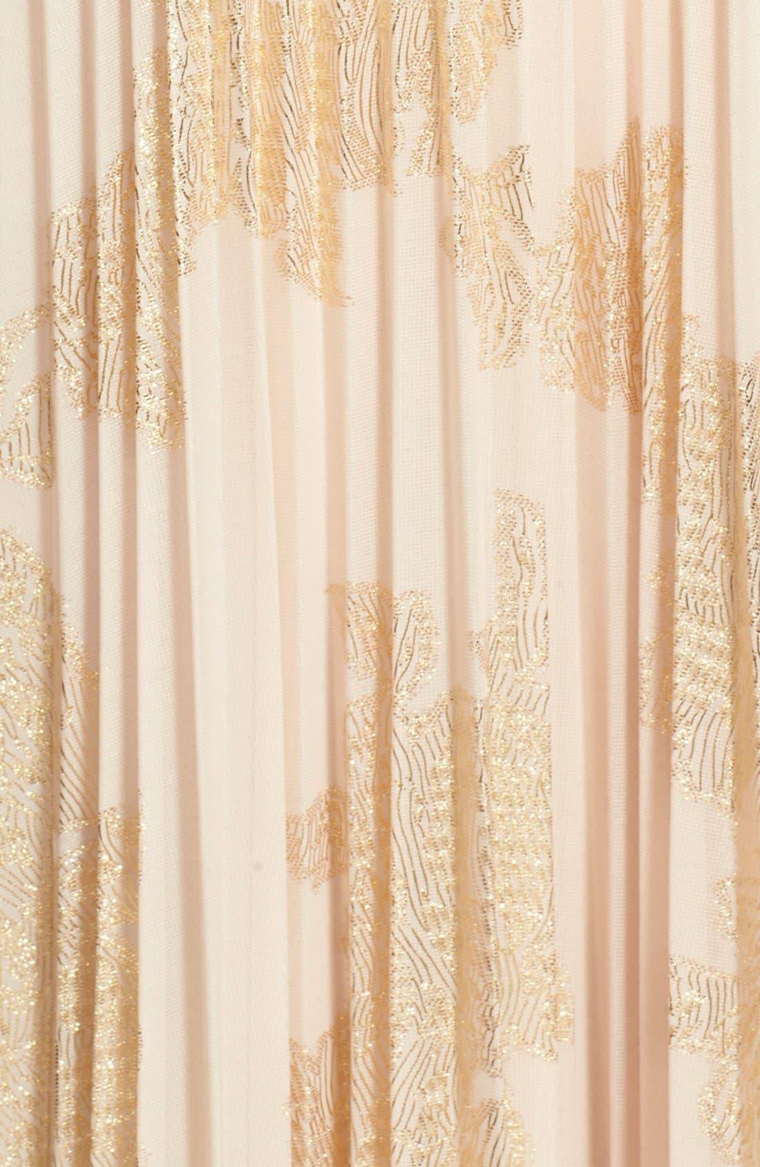 ,                             Foiled Pleated Jersey Blouson Dress,                             Alternate thumbnail 6, color,                             269
