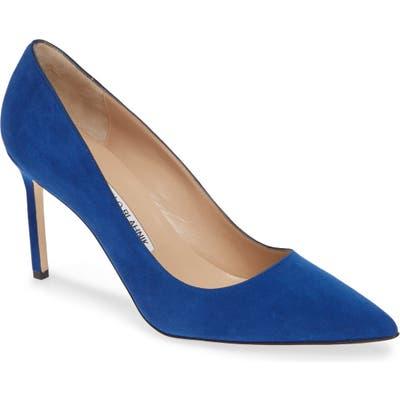 Manolo Blahnik Bb Pointy Toe Pump - Blue