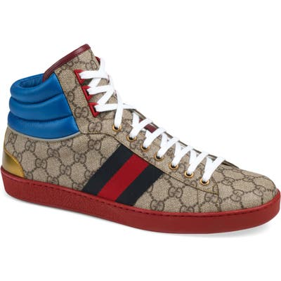Gucci New Ace Highsneaker, Beige