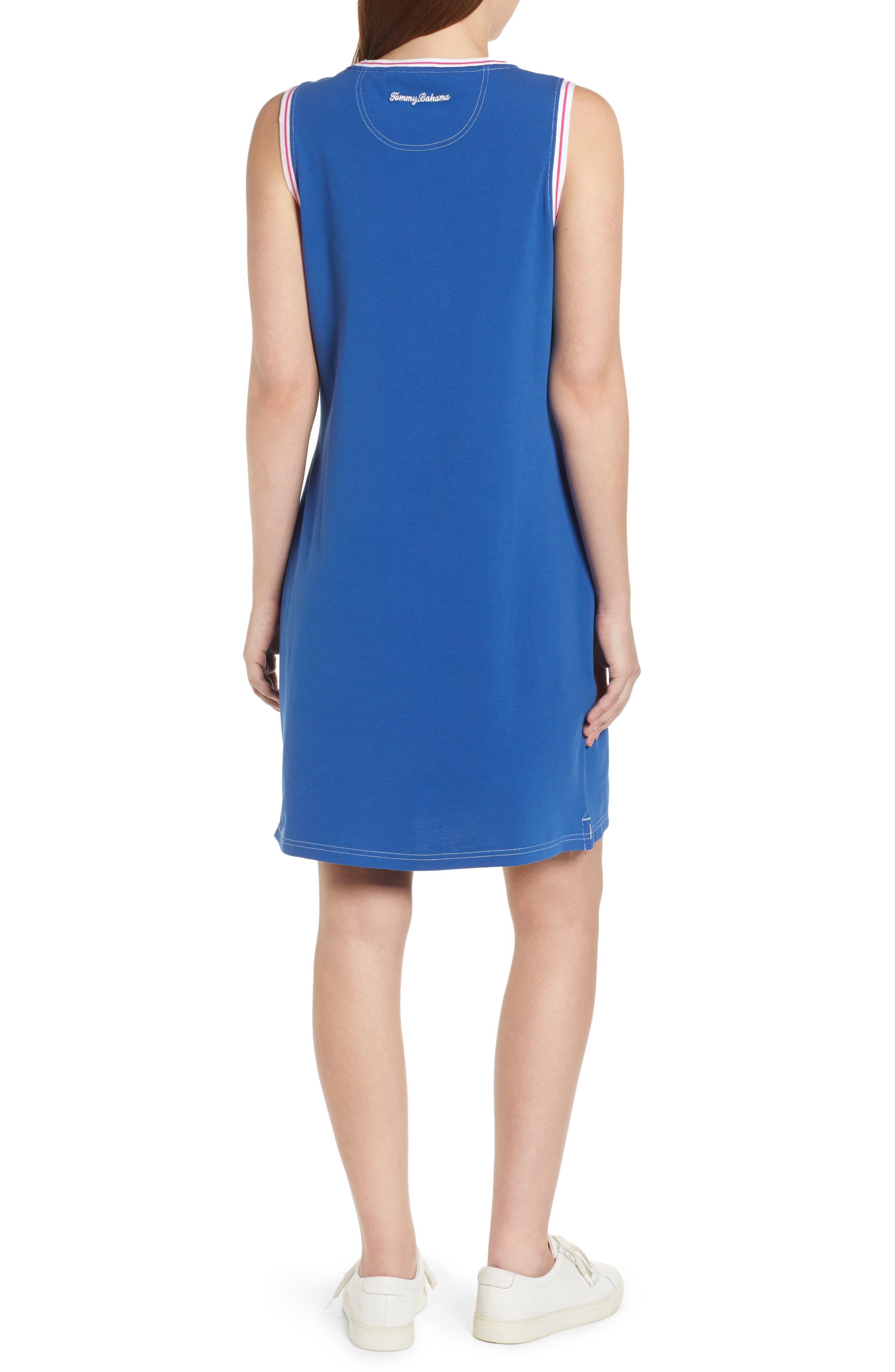 ,                             Paradise Classic Sleeveless Dress,                             Alternate thumbnail 2, color,                             MONACO BLUE