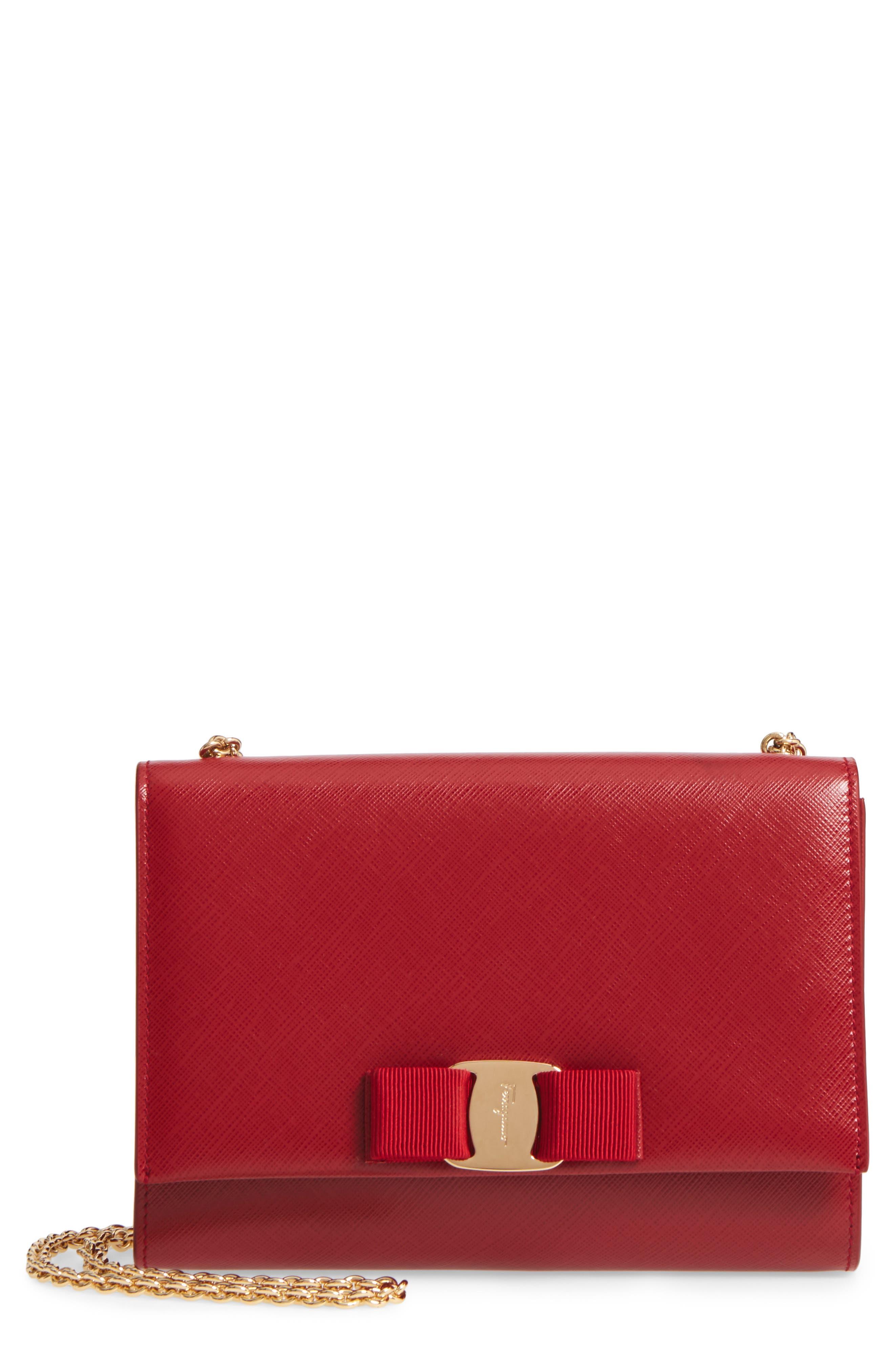 Salvatore Ferragamo Mini Vara Leather