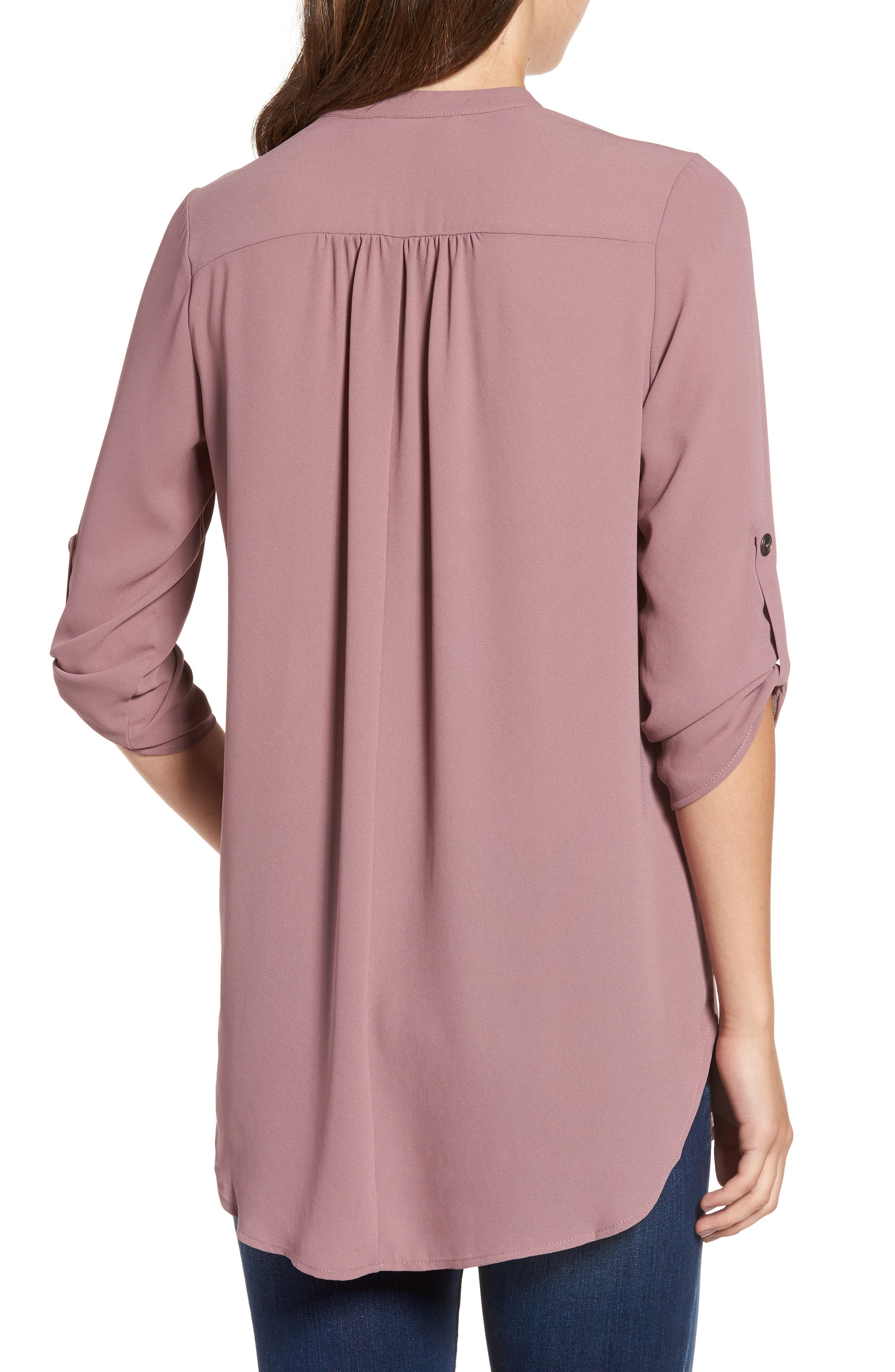 ,                             Perfect Roll Tab Sleeve Tunic,                             Alternate thumbnail 121, color,                             520