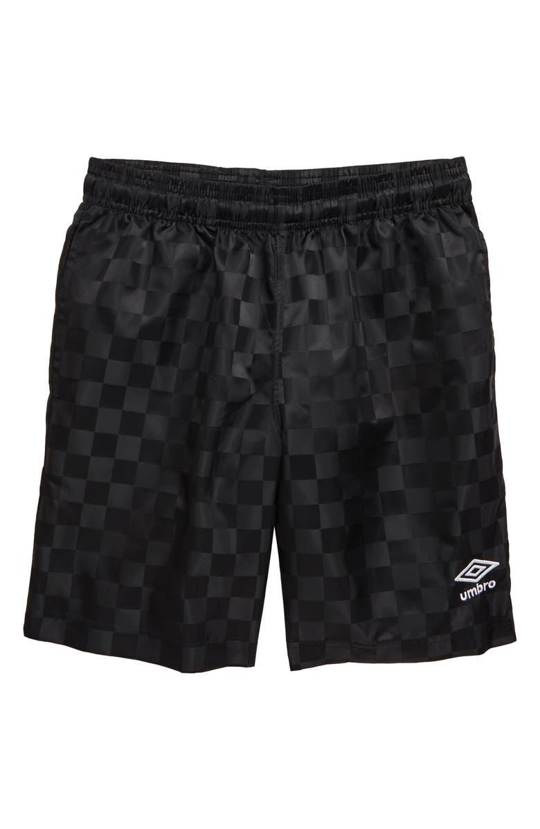 UMBRO Checkerboard Shorts, Main, color, 001