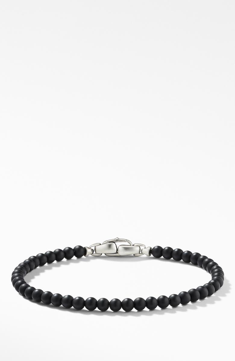 DAVID YURMAN Spiritual Beads Bracelet, Main, color, BLACK ONYX
