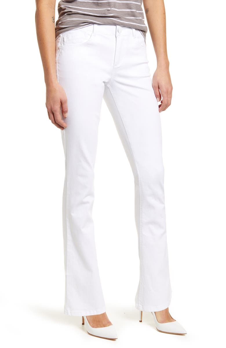 WIT & WISDOM Ab-Solution Itty Bitty Bootcut Jeans, Main, color, OPW- OPTIC WHITE